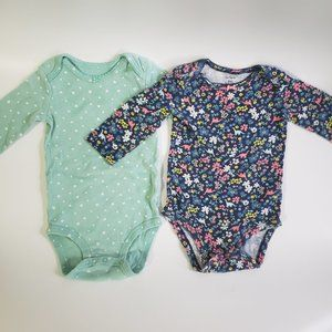 Carter's Baby Girls Long sleeve Bodysuit Size 9 M